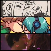 Triple Kiss by FreakZombieCannibaL