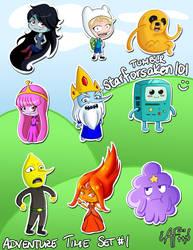 Adventure Time Chibis, Set #1 by Starforsaken101