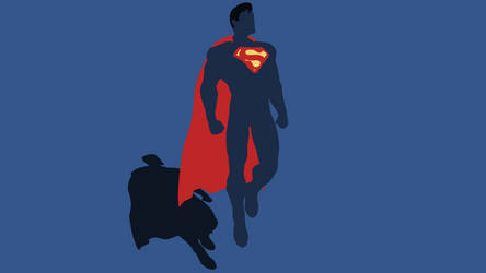 Minimal Superman Wallpaper by Cheetashock