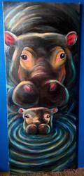 Hippopotami by septima-severa