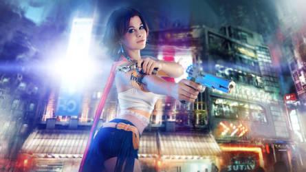 Final Fantasy - City of the Future by GarnetTilAlexandros