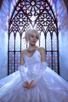 Lunafreya wedding cosplay by GarnetTilAlexandros