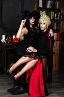 TheWitch and the Vampire - Tifa and Cloud by GarnetTilAlexandros