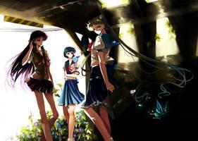 Usagi,Ami,Rei by nako-75