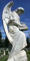 Mount Olivet Cemetery Archangel Uriel 64 by Falln-Stock