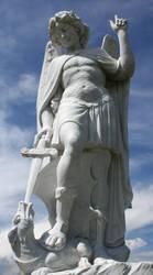 Mount Olivet Cemetery Archangel Michael 275 by Falln-Stock