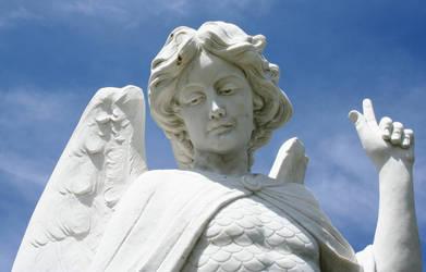 Mount Olivet Cemetery Archangel Michael 277 by Falln-Stock