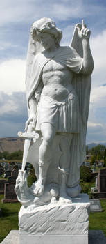 Mount Olivet Cemetery Archangel Michael 278 by Falln-Stock