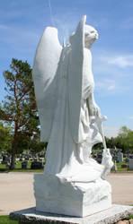 Mount Olivet Cemetery Archangel Michael 279 by Falln-Stock