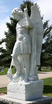 Mount Olivet Cemetery Archangel Michael 280 by Falln-Stock