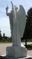 Mount Olivet Cemetery Archangel Michael 283 by Falln-Stock