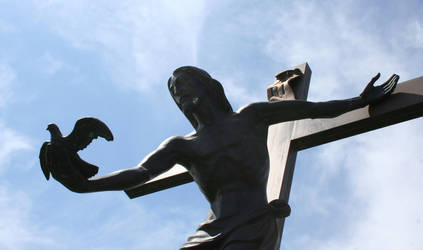 Mount Olivet Cemetery Jesus 284 by Falln-Stock