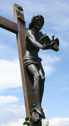 Mount Olivet Cemetery Jesus 289 by Falln-Stock