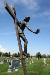 Mount Olivet Cemetery Jesus 290 by Falln-Stock