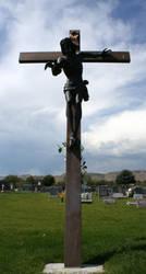 Mount Olivet Cemetery Jesus 291 by Falln-Stock