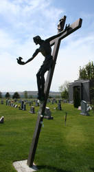 Mount Olivet Cemetery Jesus 294 by Falln-Stock