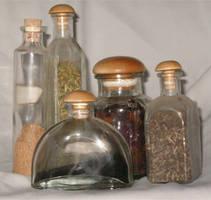 Herb Bottles by Falln-Stock