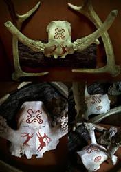 Camunian Deer Skull by VoceDelBosco