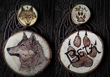 Dog/Wolf Woodburnings by VoceDelBosco