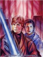 Luke and Leia by DavidRabbitte