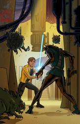 Star Wars - Luke's Dangerous Encounter by DavidRabbitte
