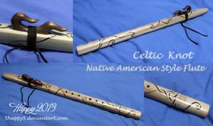 Celtic Knotwork Flute by blue5dragons