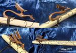 Black Walnut Dragon On Flute by blue5dragons