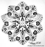 Owl Mandala by blue5dragons