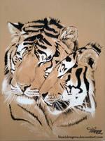 Tiger Hug by blue5dragons
