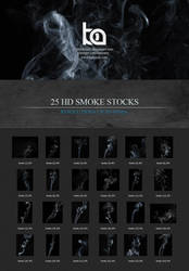 25 High Quality - High Resolution Smoke Stocks by TheBakaArts