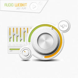 Audio Webkit Interface by alkaleo