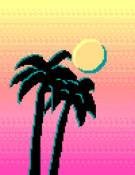 Palm Trees And Pixels by rei-0