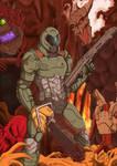 Comm: DOOM Guy by Ninja-8004