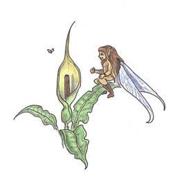 World of Arzira - Arum fairy by alexine-pankhurst