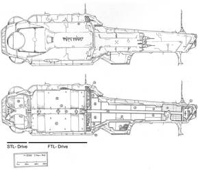Cutaway of the colony ship Muonflower by alexine-pankhurst