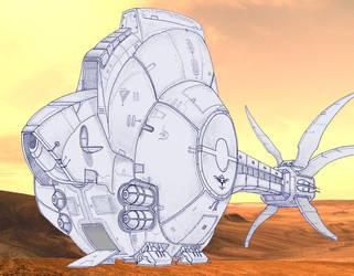 Starship Yurlungur - touchdown by alexine-pankhurst