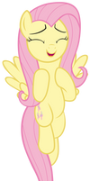 Fluttershy flying up to the night sky by Tardifice