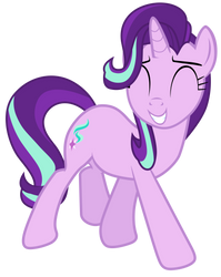 Starlight Glimmer watches ponies have fun by Tardifice