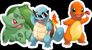 POKEMON starter pokemon GEN1 by Fomle-chan
