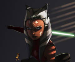 Ahsoka on the prowl by RaikohIllust