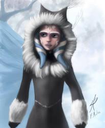 Ahsoka in winter coat by RaikohIllust