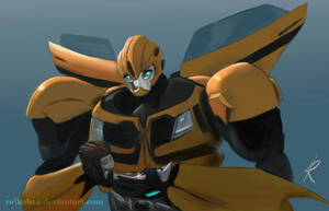 Bumblebee grieves by RaikohIllust