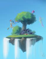 Sky Picnic by RaikohIllust
