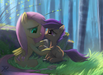 The kindness of Fluttershy by RaikohIllust
