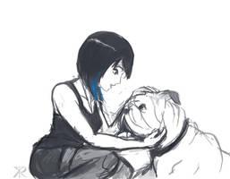 Pacific Rim - Mako petting Max by RaikohIllust
