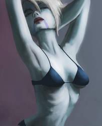 Asajj Ventress bikini by RaikohIllust