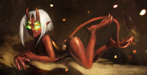 Devil Raven by RaikohIllust