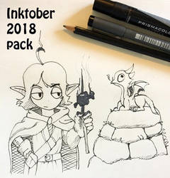 Inktober pack on my Patreon by RaikohIllust