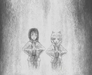 Waterfall meditation by RaikohIllust