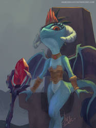 Dragon Lord Ember by RaikohIllust
